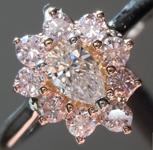 SOLD...Diamond Ring: .22ct D VS1 Pear Brilliant Pink Diamond Halo Ring GIA R6071