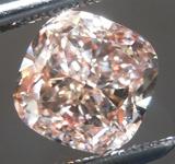 SOLD.......Loose Pink Diamond: 2.01ct Fancy Pink-Brown SI1 Cushion Cut Diamond GIA R6118
