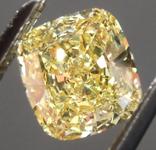 SOLD.....Loose Yellow Diamond: .83ct Fancy Intense Yellow SI2 Cushion Cut Diamond GIA R6099