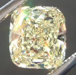SOLD.....Loose Yellow Diamond: .86ct Fancy Yellow SI2 Cushion Cut Diamond GIA R6078