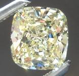 SOLD.....Loose Yellow Diamond: .87ct Fancy Yellow SI2 Cushion Cut Diamond GIA R6126