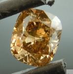 SOLD....Loose Brown Diamond: 1.00ct Fancy Yellow Brown SI1 Cushion Cut Diamond R6150