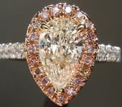 SOLD...Diamond Ring: 1.03ct K I1Pear Shape Diamond Halo Ring GIA R6147