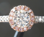 SOLD...Colorless Diamond Ring: .51ct F SI2 Round Brilliant Diamond Halo Ring R5908