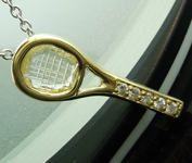 0.24ct W-X Tennis Racket Rose Cut Diamond Pendant R4936