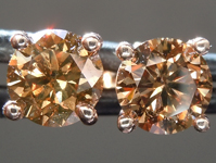 SOLD.....Diamond Earrings: 1.61cts Fancy Orangy Brown Round Brilliant Diamond Earrings R6210