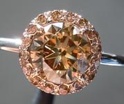 1.22ct Yellow Brown SI2 Round Brilliant Diamond Ring R6190