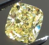 SOLD...Loose Yellow Diamond: 1.13ct Fancy Intense Yellow SI2 Cushion Cut Diamond GIA R6227