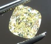 SOLD...Loose Yellow Diamond: .84ct Fancy Intense Yellow SI2 Cushion Cut Diamond GIA R6229
