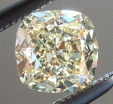 .61ct Fancy Light Yellow VVS2 Cushion Cut Diamond R6237