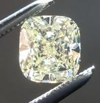 SOLD...Loose Yellow Diamond: .66ct Fancy Light Yellow Internally Flawless Cushion Cut Diamond GIA R6241