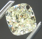 SOLD...Loose Yellow Diamond: 1.05ct Y-Z VVS1 Cushion Cut Diamond GIA R6258