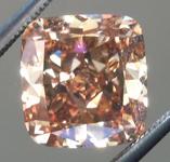 Loose Brown Diamond: 4.08ct Fancy Orange Brown SI1 Cushion Modified Brilliant Diamond GIA R6245