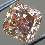 Loose Brown Diamond: 5.00ct Fancy Yellow Brown VS2 Cushion Modified Brilliant Diamond GIA R6246