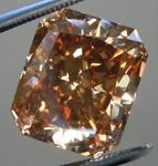 Loose Brown Diamond: 5.61ct Fancy Dark Orangy Brown SI2 Radiant Cut Diamond GIA R6248