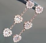 SOLD...Pink Diamond Earrings: .33cts Natural Pink Heart Shape Diamond Dangle Earrings R5999