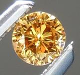 SOLD.....Loose Orange Diamond: .13ct Fancy Deep Brownish Orangy Yellow VS1 Round Brilliant Diamond GIA R5968