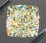 SOLD.....Loose Yellow Diamond: 1.55ct Fancy Light Yellow SI1 Princess Cut Diamond GIA R6308