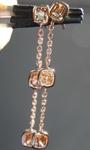 SOLD....1.35ctw Yellow Brown Cushion Cut Diamond Earrings R6287
