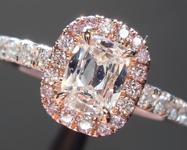 0.38ct F SI1 Cushion Cut Diamond Ring R6311