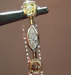 SOLD....Diamond Pendant: .61ctw Fancy Colored and Colorless Diamond Pendant R6290