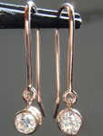SOLD.........Diamond Earrings: .65ctw G SI1-2 Round Brilliant Diamond Dangle Earrings R5766
