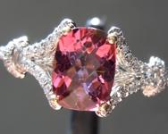 0.91ct Pink Cushion Cut Tourmaline Ring R6337