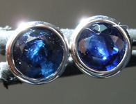 SOLD...Sapphire Earrings: 1.80cts Blue Sapphire Stud Earrings R6367