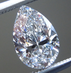 SOLD....Loose Colorless Diamond : .91ct F SI2 Pear Brilliant Diamond GIA R6382