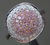 SOLD...Pink Diamond Ring: .57ctw Fancy Light Pink and Colorless Diamond Ring R6489
