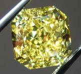 Loose Yellow Diamond: 2.64ct Fancy Vivid Yellow VS2 Radiant Cut Diamond GIA R6495
