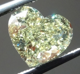 SOLD........Loose Yellow Diamond: 1.63ct Fancy Light Yellow VS2 Heart Shape Diamond GIA R6494