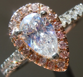 SOLD.......Colorless Diamond Ring: .75ct E SI1 Pear Brilliant Diamond Halo Ring GIA R6476
