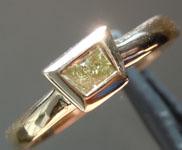 0.20ct Yellow VS1 Trapezoidal Diamond Ring R6521