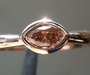 0.23ct Fancy Brown SI1 Marquise Diamond Ring R6370