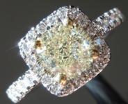 SOLD........Yellow Diamond Ring: 1.03ct U-V VVS2 Cushion Modified Brilliant Diamond Halo Ring GIA R6504