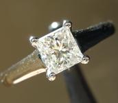 SOLD...Diamond Ring: .53ct G VS1 Princess Cut Diamond Ring R1363