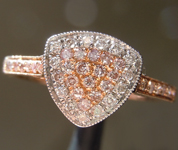 SOLD...0.29ctw Natural Pink and Colorless Diamond Ring R6637