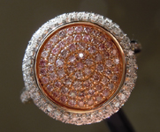 SOLD.....Pink Diamond Ring: .69ctw Natural Pink and Colorless Diamond Ring R6555