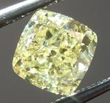 SOLD....Loose Yellow Diamond: 1.00ct Fancy Yellow I1 Cushion Cut Diamond GIA R6562