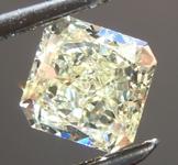 SOLD....Loose Yellow Diamond: .53ct W-X VVS2 Radiant Cut Diamond GIA R6571