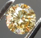 0.32ct Brownish Yellow I1 Round Brilliant Diamond R6585
