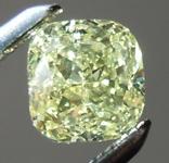 SOLD.......Loose Diamond: .63ct Fancy Greenish Yellow I1 Cushion Modified Brilliant Diamond GIA R6588