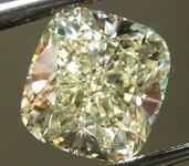 SOLD....Loose Diamond: 2.50ct W-X, Light Yellow Cushion Diamond MAKE AND MODEL R6567