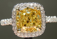 SOLD... 1.81ct Fancy Intense SI1 Cushion Cut Diamond GIA R6360