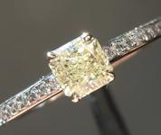 0.44ct Fancy Yellow VS1 Radiant Cut Diamond Ring R6582