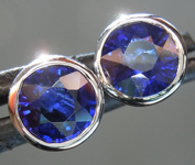 SOLD...Sapphire Earrings: 2.20cts Blue Round Brilliant Sapphire Earrings R6615
