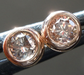 Sold...Pink Diamond Earrings: .34ctw Brownish Pink and Fancy Pinkish Brown Brilliant Diamond Stud Earrings R6604