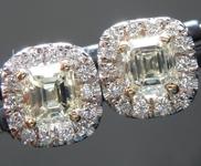 1.13cts Y-Z VS Emerald Cut Diamond Earrings R6660