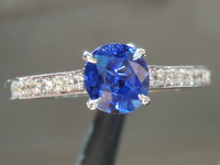 SOLD....0.84ct Blue Oval Sapphire Ring R6690